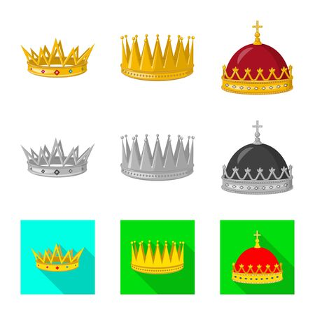 Vector design of medieval and nobility symbol. Collection of medieval and monarchy stock vector illustration. Stockfoto - 129229342