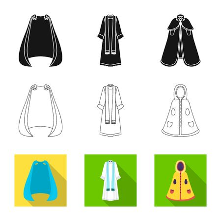 Vector illustration of material and clothing symbol. Collection of material and garment stock vector illustration.