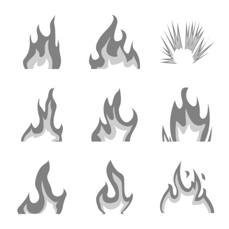 Vector design of flaming and danger icon. Collection of flaming and dangerous vector icon for stock. 版權商用圖片 - 129229497