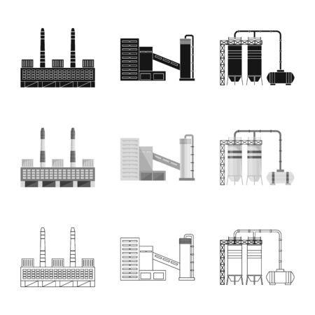 Isolated object of production and structure icon. Set of production and technology vector icon for stock.
