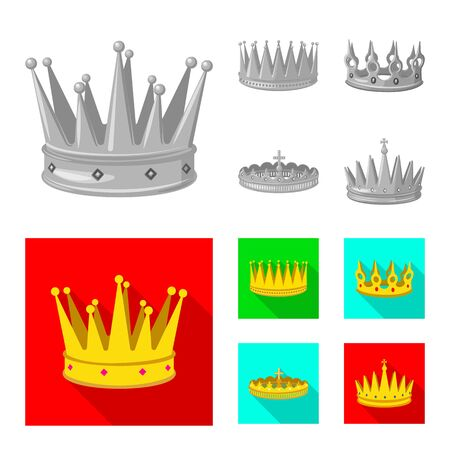 Vector design of medieval and nobility symbol. Set of medieval and monarchy stock symbol for web.