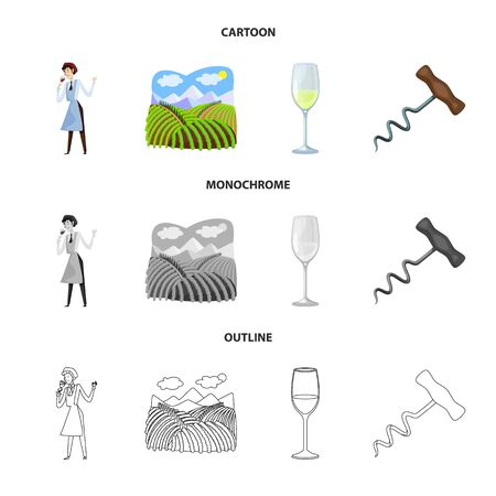 Isolated object of farm and vineyard symbol. Collection of farm and product vector icon for stock. Ilustracja