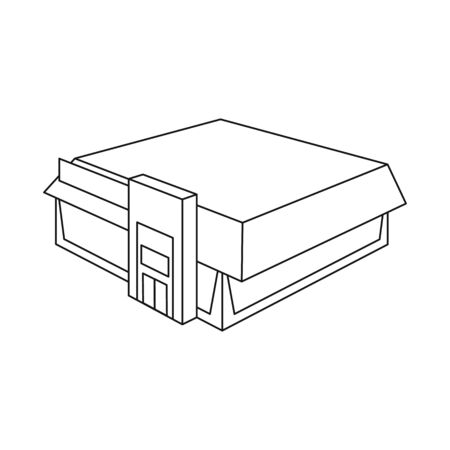 Isolated object of shop and fashion. Set of shop and commercial vector icon for stock.