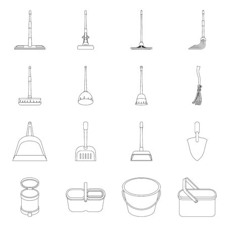 Isolated object of hygiene and clean. Collection of hygiene and mopping stock symbol for web.
