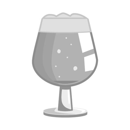 Isolated object of glass and pint icon. Set of glass and jug stock vector illustration.