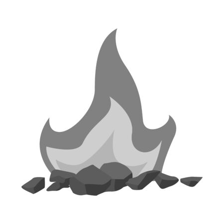 Vector design of blaze and fiery icon. Collection of blaze and firewood vector icon for stock.