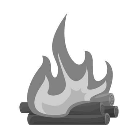 Isolated object of bonfire and burning sign. Set of bonfire and night vector icon for stock.