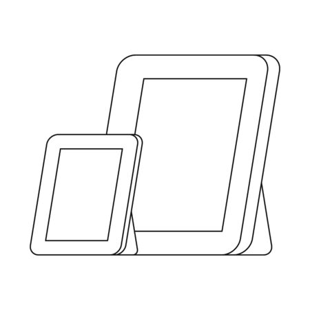 Vector design of frame and photo icon. Set of frame and blank vector icon for stock.