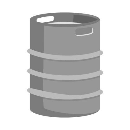 Vector illustration of cask and barrel. Set of cask and sketch vector icon for stock. Ilustração