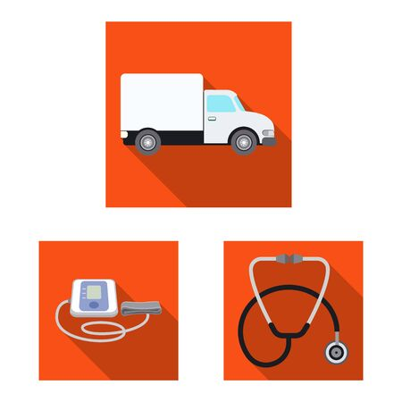 Isolated object of pharmacy and hospital icon. Collection of pharmacy and business stock symbol for web. Illustration
