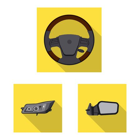 Isolated object of auto and part. Collection of auto and car vector icon for stock.