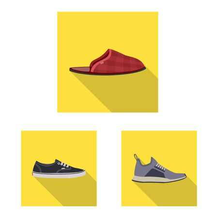 Isolated object of shoe and footwear icon. Set of shoe and foot stock symbol for web.