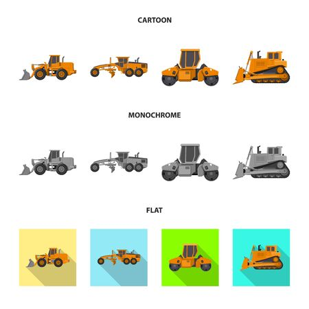 Vector design of build and construction icon. Collection of build and machinery stock symbol for web.