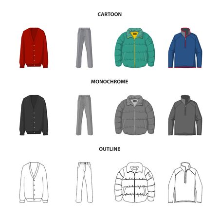 Isolated object of man and clothing  . Collection of man and wear vector icon for stock.