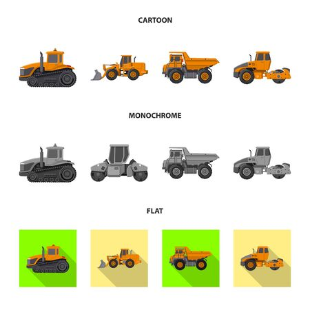 Vector illustration of build and construction . Collection of build and machinery vector icon for stock.