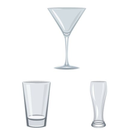 Isolated object of dishes and container sign. Set of dishes and glassware stock symbol for web. Banque d'images - 130689119