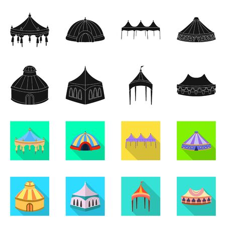 Vector design of roof and folding. Set of roof and architecture vector icon for stock.