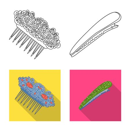 Vector illustration of beauty and fashion. Collection of beauty and female stock vector illustration.
