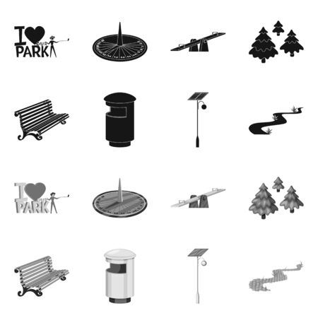 Isolated object of urban and street icon. Collection of urban and relaxation stock vector illustration. Vecteurs