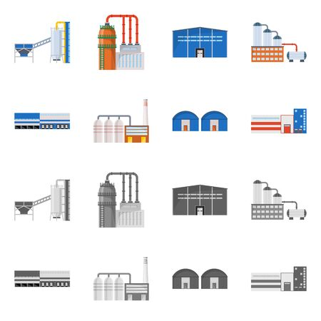 Vector design of production and structure icon. Collection of production and technology stock vector illustration.