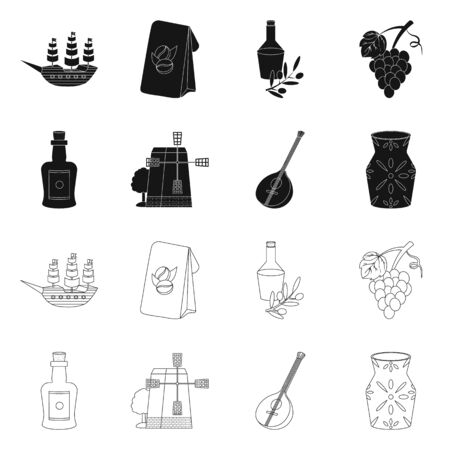 Vector design of and historic icon. Collection of and country stock symbol for web.