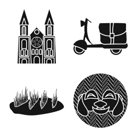 Vector design of vietnam and traditional sign. Collection of vietnam and culture vector icon for stock.
