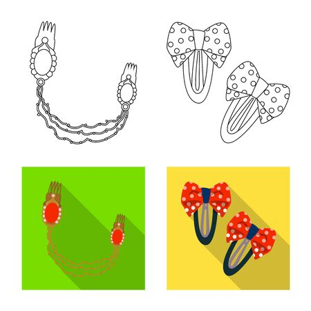 Vector design of beauty and fashion symbol. Set of beauty and female stock symbol for web.