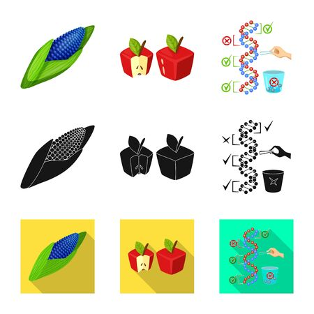 Vector illustration of test and synthetic icon. Collection of test and laboratory vector icon for stock.