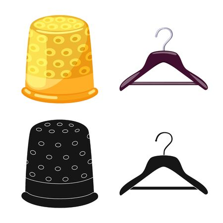 Isolated object of craft and handcraft sign. Set of craft and industry vector icon for stock. Vettoriali