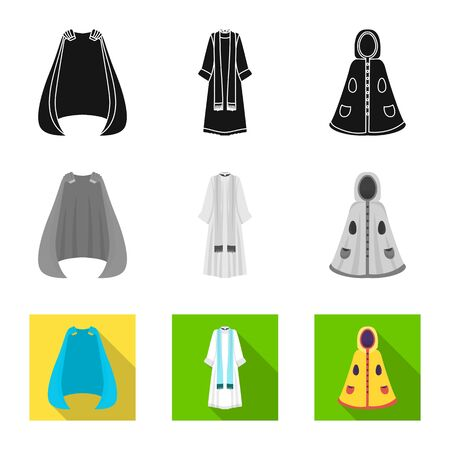Vector design of material and clothing symbol. Set of material and garment vector icon for stock.