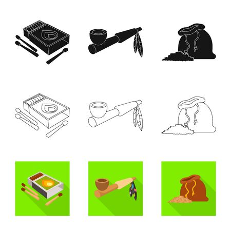 Isolated object of accessories and harm  . Set of accessories and euphoria stock symbol for web.