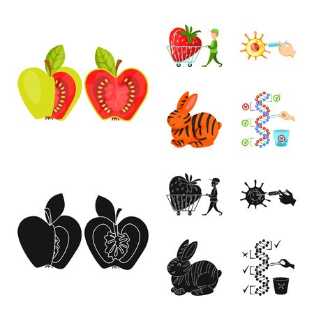Isolated object of test and synthetic icon. Set of test and laboratory vector icon for stock. Illustration