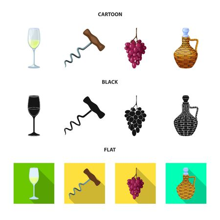 Isolated object of farm and vineyard icon. Collection of farm and product vector icon for stock.