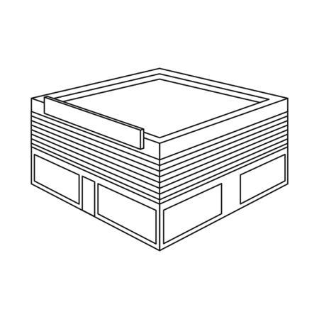 Vector illustration of hypermarket and shop sign. Set of hypermarket and bookstore stock vector illustration. Illustration