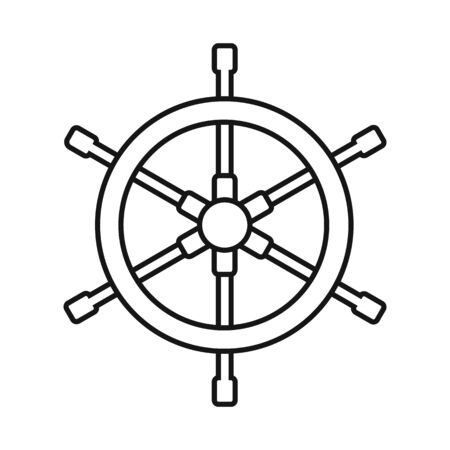 Isolated object of wheel and ship icon. Collection of wheel and navigation stock vector illustration.