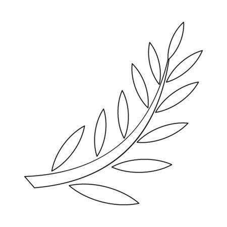 Isolated object of laurel and gold symbol. Collection of laurel and leaves stock symbol for web. Stock Illustratie