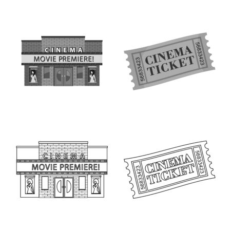 Vector illustration of television and filming . Set of television and viewing stock vector illustration.