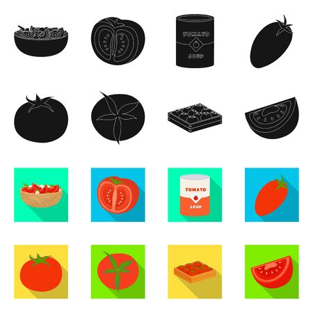 Vector design of vegetable and delicious icon. Collection of vegetable and natural stock symbol for web. Illustration