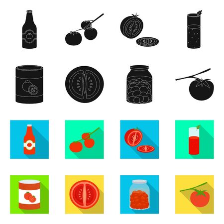 Vector design of vegetable and delicious icon. Collection of vegetable and natural vector icon for stock.