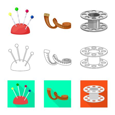 Isolated object of craft and handcraft  . Collection of craft and industry vector icon for stock. Иллюстрация