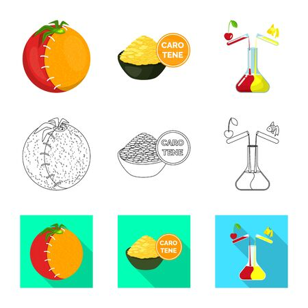 Isolated object of test and synthetic symbol. Collection of test and laboratory vector icon for stock. 일러스트