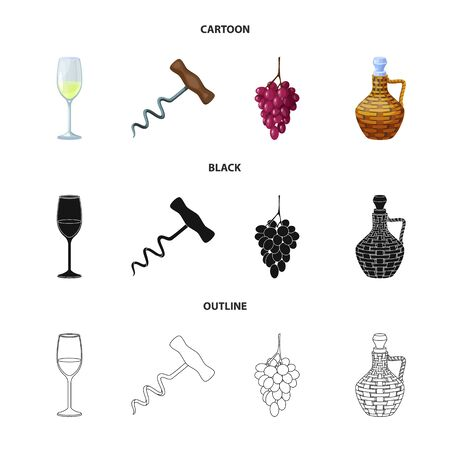 Isolated object of farm and vineyard  . Set of farm and product vector icon for stock.