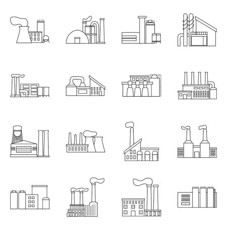 Vector illustration of industry and plant  . Set of industry and construction stock vector illustration.
