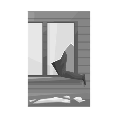 Isolated object of broken and window  . Set of broken and security stock symbol for web. Stock Illustratie
