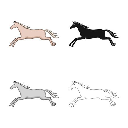 Isolated object of horse and wildlife . Collection of horse and horseback stock symbol for web.