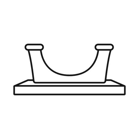 Isolated object of equipment and jetty icon. Set of equipment and bollard stock vector illustration.