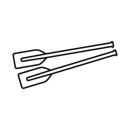 Isolated object of oars and paddle sign. Set of oars and sport stock symbol for web. Stock Illustratie