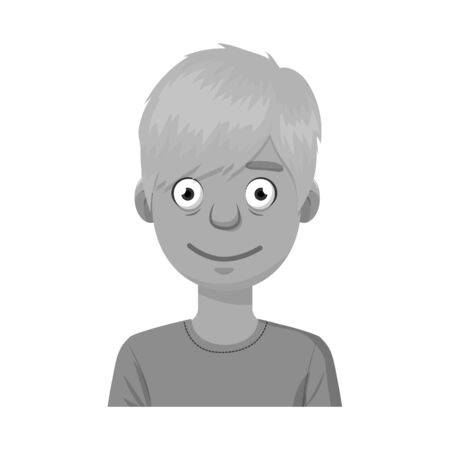 Isolated object of guy and smile icon. Collection of guy and laugh vector icon for stock.