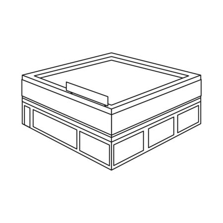 Isolated object of shop and commercial symbol. Collection of shop and department vector icon for stock. Illustration