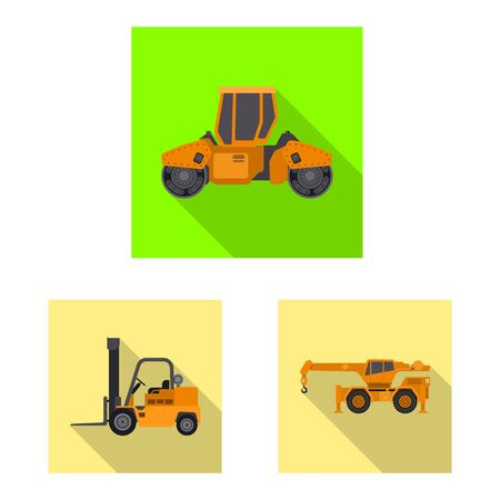 Vector illustration of build and construction . Set of build and machinery vector icon for stock.